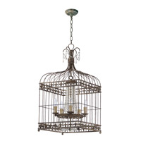 Maxim 26005ATR Gisele 5 Light 17 inch Antique Terra Chandelier Ceiling Light