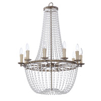 Maxim 26008ATR Gisele 10 Light 25 inch Antique Terra Chandelier Ceiling Light