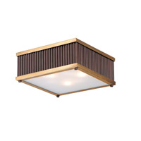 Maxim 26010OIBUB Ruffle 3 Light 13 inch Oil Rubbed Bronze and Burnished Brass Flush Mount Ceiling Light