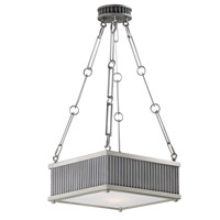 Ruffle 3 Light 13 inch Weathered Zinc and Satin Nickel Single Pendant Ceiling Light