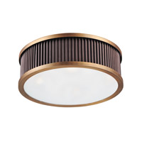 Ruffle 4 Light 18 inch Oil Rubbed Bronze and Burnished Brass Flush Mount Ceiling Light