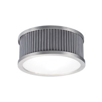Ruffle 4 Light 18 inch Weathered Zinc and Satin Nickel Flush Mount Ceiling Light
