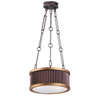 Maxim 26023OIBUB Ruffle 3 Light 13 inch Oil Rubbed Bronze and Burnished Brass Single Pendant Ceiling Light