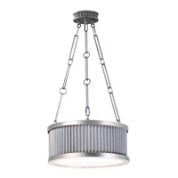 Maxim 26023WZSN Ruffle 3 Light 13 inch Weathered Zinc and Satin Nickel Single Pendant Ceiling Light