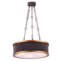 Maxim 26025OIBUB Ruffle 4 Light 18 inch Oil Rubbed Bronze and Burnished Brass Single Pendant Ceiling Light