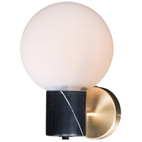 Vesper 1 Light 8 inch Satin Brass and Black Wall Sconce Wall Light