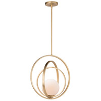 Maxim Satin Brass Glass Pendants