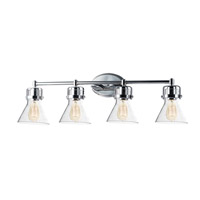 Seafarer 4 Light 33 inch Polished Chrome Bath Vanity Wall Light