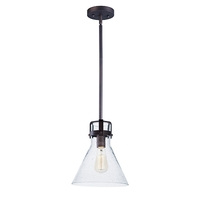 Maxim 26115CDOI/BUI Seafarer 1 Light 10 inch Oil Rubbed Bronze Single Pendant Ceiling Light