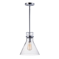 Maxim 26115CDPC/BUI Seafarer 1 Light 10 inch Polished Chrome Single Pendant Ceiling Light