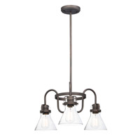 Maxim 26116CDOI/BUI Seafarer 3 Light 22 inch Oil Rubbed Bronze Single-Tier Chandelier Ceiling Light