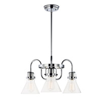 Maxim 26116CDPC Seafarer 3 Light 22 inch Polished Chrome Single-Tier Chandelier Ceiling Light