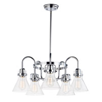 Maxim 26117CDPC Seafarer 5 Light 24 inch Polished Chrome Single-Tier Chandelier Ceiling Light