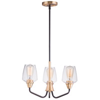 Maxim 26124CLBZAB Goblet 3 Light 19 inch Bronze and Antique Brass Mini Chandelier Ceiling Light
