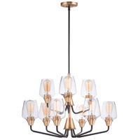 Maxim 26127CLBZAB Goblet 9 Light 27 inch Bronze and Antique Brass Multi-Tier Chandelier Ceiling Light