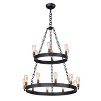 Maxim 26277BKNAB/BUI Noble 16 Light 38 inch Black and Natural Aged Brass Chandelier Ceiling Light