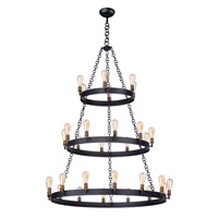 Maxim 26278BKNAB Noble 30 Light 50 inch Black/Natural Aged Brass Chandelier Ceiling Light