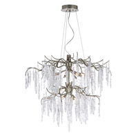 Willow 12 Light 35 inch Silver Gold Multi-Tier Chandelier Ceiling Light