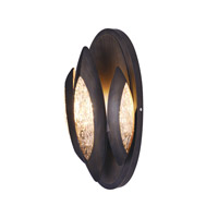 Lotus 1 Light 6 inch Burnished Bronze Wall Sconce Wall Light