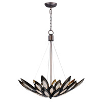 Lotus 8 Light 31 inch Burnished Bronze Single Pendant Ceiling Light