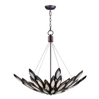 Lotus 12 Light 37 inch Burnished Bronze Single Pendant Ceiling Light