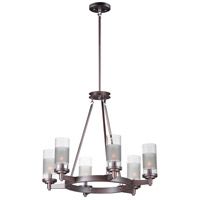 Maxim 26326CLFTOI Crescendo 6 Light 25 inch Oil Rubbed Bronze Single-Tier Chandelier Ceiling Light