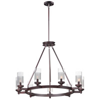 Maxim 26327CLFTOI Crescendo 9 Light 35 inch Oil Rubbed Bronze Chandelier Ceiling Light