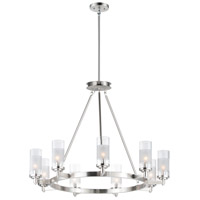 Maxim 26327CLFTSN Crescendo 9 Light 35 inch Satin Nickel Chandelier Ceiling Light