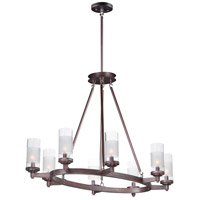 Maxim 26328CLFTOI Crescendo 8 Light 24 inch Oil Rubbed Bronze Chandelier Ceiling Light