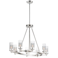 Maxim 26328CLFTSN Crescendo 8 Light 24 inch Satin Nickel Chandelier Ceiling Light
