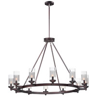 Maxim 26329CLFTOI Crescendo 12 Light 44 inch Oil Rubbed Bronze Chandelier Ceiling Light