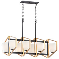 Maxim 26358SWGLDBK Oblique 8 Light 40 inch Gold and Black Linear Pendant Ceiling Light