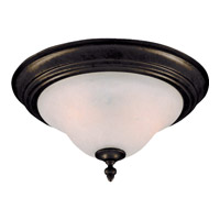 Maxim 2650MRKB Pacific 2 Light 13 inch Kentucky Bronze Flush Mount Ceiling Light in Marble