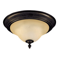 Pacific 2 Light 13 inch Kentucky Bronze Flush Mount Ceiling Light in Wilshire