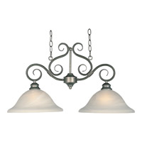 Maxim Lighting Pacific 2 Light Island Pendant in Pewter 2651MRPE