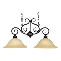 Pacific 2 Light 30 inch Kentucky Bronze Island Pendant Ceiling Light in Wilshire