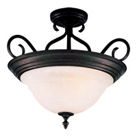 Maxim 2652MRKB Pacific 3 Light 19 inch Kentucky Bronze Semi Flush Mount Ceiling Light in Marble
