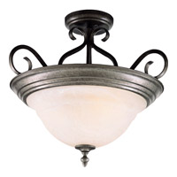 Maxim Lighting Pacific 3 Light Semi Flush Mount in Pewter 2652MRPE
