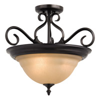 Maxim 2652WSKB Pacific 3 Light 19 inch Kentucky Bronze Semi Flush Mount Ceiling Light in Wilshire