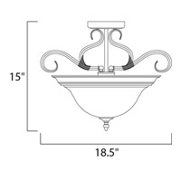 Maxim 2652WSKB Pacific 3 Light 19 inch Kentucky Bronze Semi Flush Mount Ceiling Light in Wilshire alternative photo thumbnail