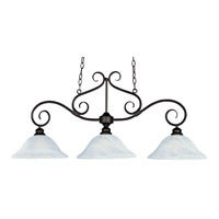 Pacific 3 Light 44 inch Kentucky Bronze Island Pendant Ceiling Light in Marble