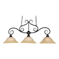 Pacific 3 Light 44 inch Kentucky Bronze Island Pendant Ceiling Light in Wilshire