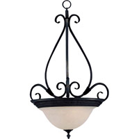 Pacific 3 Light 21 inch Kentucky Bronze Pendant Ceiling Light in Marble