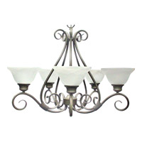 Maxim Lighting Pacific 5 Light Single Tier Chandelier in Pewter 2655MRPE