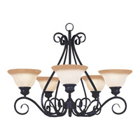 Pacific 5 Light 29 inch Kentucky Bronze Single Tier Chandelier Ceiling Light in Wilshire
