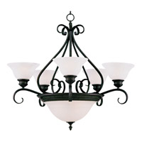 Pacific 7 Light 27 inch Kentucky Bronze Multi-Tier Chandelier Ceiling Light in Marble