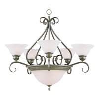 Maxim Lighting Pacific 7 Light Multi-Tier Chandelier in Pewter 2656MRPE