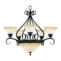 Pacific 7 Light 27 inch Kentucky Bronze Multi-Tier Chandelier Ceiling Light in Wilshire