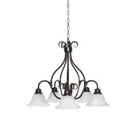 Pacific 5 Light 26 inch Kentucky Bronze Down Light Chandelier Ceiling Light in Marble