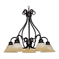 Pacific 5 Light 26 inch Kentucky Bronze Down Light Chandelier Ceiling Light in Wilshire